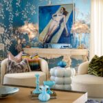 Blue Side Table - Occasional Table by Lori Morris Interior Design in Boca Raton, Florida
