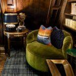 Lori Morris velvet Flora chair - Family room decoration ideas