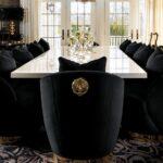 Dining Room furniture - Tara black velvet chair by Lori Morris Interior Design - US & Canada