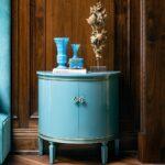Semi Circle Cabinet - Furniture for Storage and Home Decor by Lori Morris Interior Design Canada
